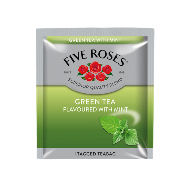 Five Roses Green Tea & Mint Envelopes (60 x 1.5g)