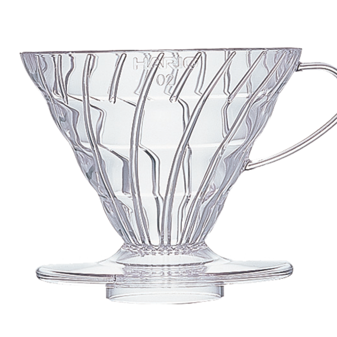 Hario V60 Two Cup Coffee Dripper Clear