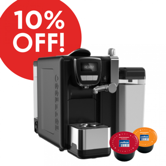Lavazza BLUE Equipment and Capsule Deal