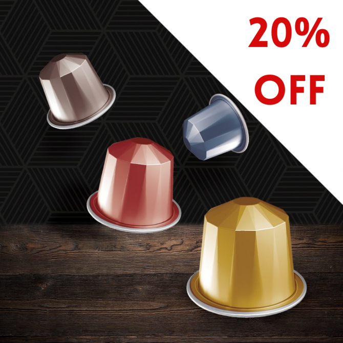 Save 20% when you buy four of your favourite Blacksmith Nespresso compatible capsules