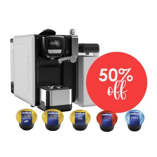 Lavazza BLUE Equipment and Capsule Deal - SAVE 50%