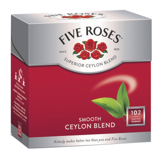 Five Roses Ceylon Blend Tagless Teabags (6 x 100 x 2.5g)