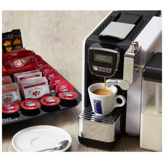 Starter Pack with Lavazza BLUE Capsule Machine