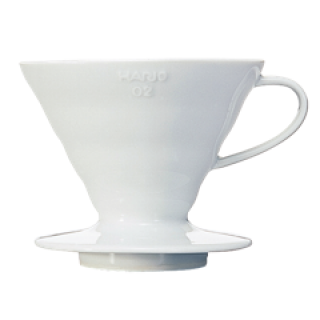Hario V60 Two Cup Coffee Dripper Ceramic White