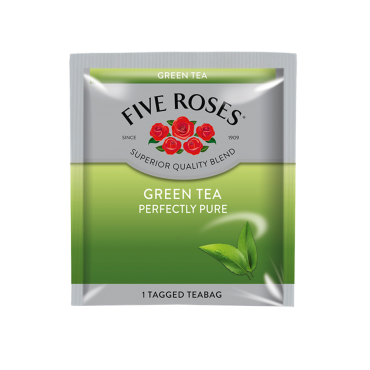 Five Roses Green Tea Envelopes (60 x 1.5g)