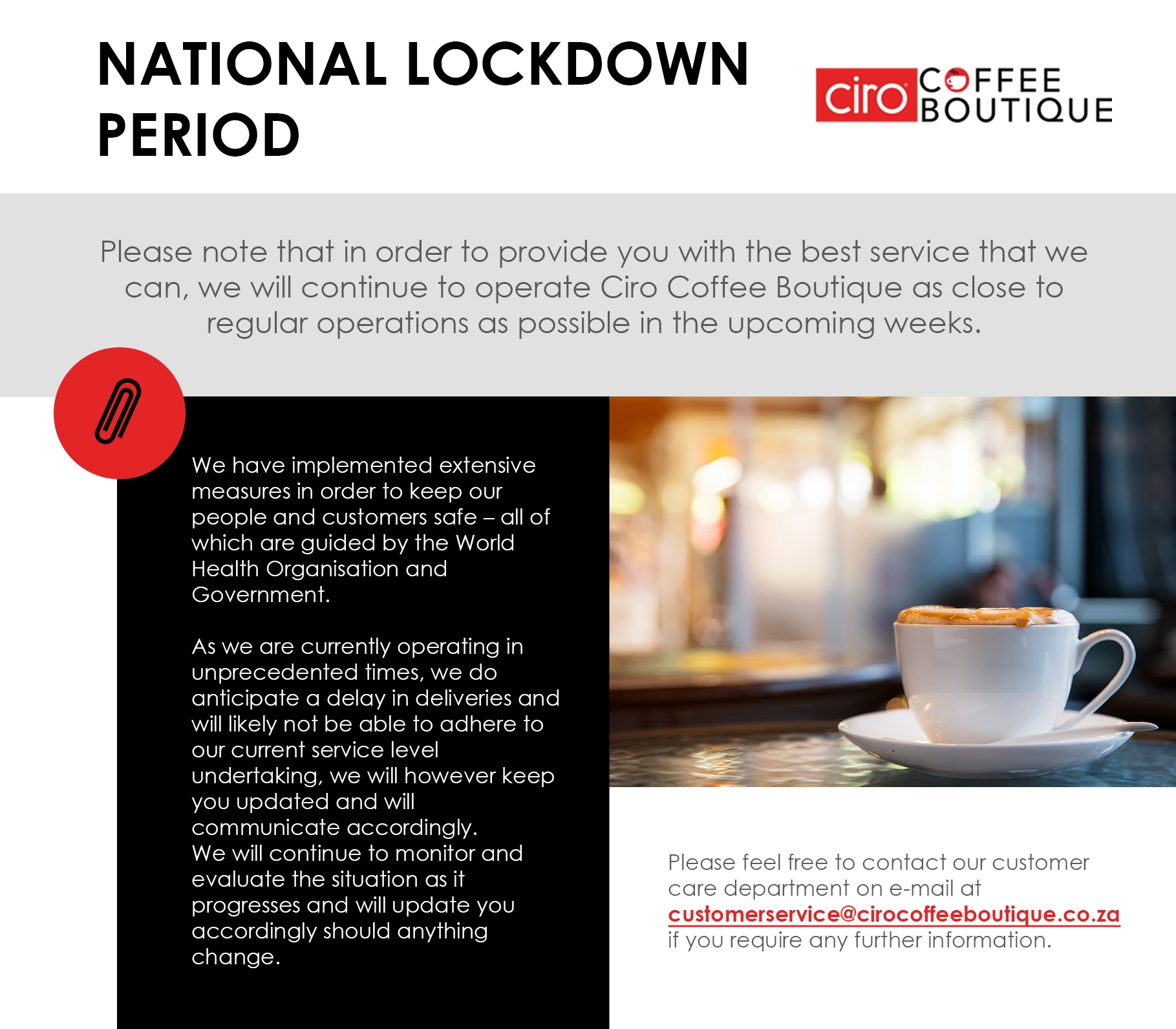 national lockdown communication